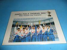 malaysia 1992 ms mnh Thomas Cup Champion