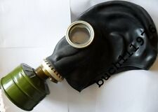 WW2 RUBBER GAS MASK GP-5 Russian soviet Black  Military, size 0,1,2,3,4