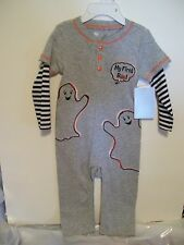 CHILD BABY 9 MTS TODDLERS GRAY GHOST MY FIRST BOO HALLOWEEN PUMPKIN COSTUME