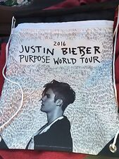 Justin Bieber Purpose World Tour VIP Merchandise Drawstring Backpack