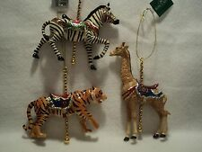 "KSA ""CAROUSEL ANIMAL"" Ornament ~ TIGER  OR ZEBRA ~ Buy One Or Both"