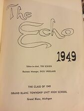 Grand Blanc Township Unit High School Yearbook 1949 Michigan