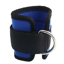 Ankle Strap D-ring Leg Pulley Gym Lifting Multi Cable Attachment Blue Sports