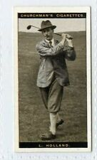 (Gt778-432) SCARCE, Churchman, Famous Golfers, #23, Len Holland 1927 EX