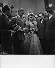 Photo originale Georges Marchal Danielle Darrieux tournage Bethsabée