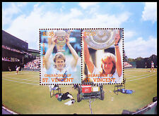 St VINCENT Wholesale Tennis Edberg/Graf Miniature Sheets x 100 SALE PRICE AB 665