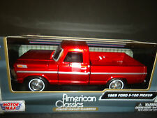Motormax Ford F100 1969 Candy Red 1/24 79315