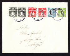 1952 Denmark Danmark cover from Kerteminde Kjertenminde displaying 6 stamps