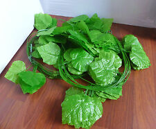 12 Bunches 20 Leave Grape Leaf Vines Artificial Hangings Arch Wall Decoration