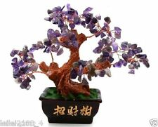 AAA+++ Lucky tree!!! Natural purple amethyst crystal gem tree reiki 348g  A