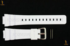 16mm Fits CASIO DW-6900 G-Shock White Rubber Watch BAND Strap DW-6600 w/ 2 Pins
