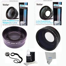 WIDE ANGLE MACRO+TELEPHOTO ZOOM LENS KIT FOR CANON EOS REBEL T5 T5I XS XSI 6D 7D