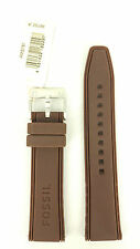 Fossil Brown Rubber Watch Band 22mm Watch Strap Replacement AMS161