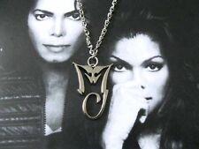 Michael Jackson Hals Kette mit MJ Logo aus Legierung 4cm x 2.8cm für MJ Fans 063