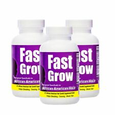 FASTGROW - Natural Afro Hair Vitamins For Faster Hair Growth 3 Month Supply