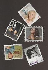 Canada 2014 Canadian Country Singers Used Set of 5