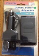 1 Vanguard Model DP-201 Dummy Battery Adaptateur Cord For Camcorders Car Charger