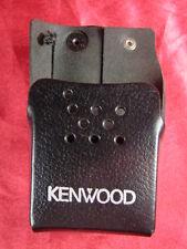 Kenwood KLH-116 Heavy Duty Leather Case Belt Swivel Loop Clip Police Black Radio