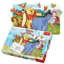 Trefl 30 Piece Maxi Unisex Winnie The Pooh Two Sided Colouring Jigsaw Puzzle NEW