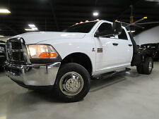 2010 Dodge Ram 3500 6.7L CUMMINS DIESEL 4X4 6SPDAT NAVIGATION FLAT BED