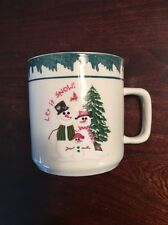 Atico Let it Snow Stonewear Dishes Holiday Christmas Cup Mug. 1998.