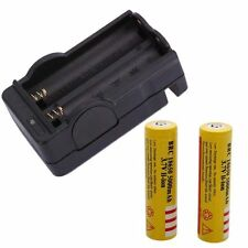 2pcs 18650  3.7V Rechargeable Li-ion Battery free with Battery Charger