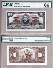 1937 $100 Bank of Canada PMG CHOICE UNC64 EPQ, Coyne & Towers. BC-27c