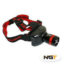 NEW 300 LUMEN NGT HIGH POWERED CREE ZOOM HEAD LIGHT FISHING/ HUNTING SEA