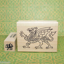 Welsh Dragon Rubber Stamp Set of 2 * Icon of Wales Cymru #RSS25