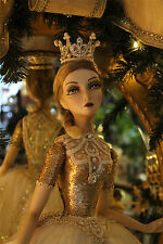 Katherine´s Collection Elfe Ballerina Fairy Doll Royal Gold Ballett Krone 74cm