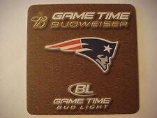 Beer Coaster Mat <^> BUDWEISER ~ NEW ENGLAND Patriots 2005 NFL Football Schedule