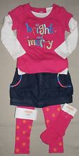 NEW Gymboree COLOR HAPPY Bright & Merry Top Skirt Dot Leggings Socks 2T Outfit