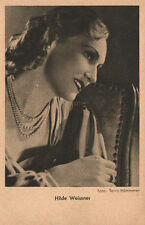 OLD POSTCARD ACTRESS GERMANY . HILDE WEISSNER . YEARS 1940 . SEE MY STORE CC1286