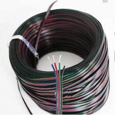 5M 4-Pin RGB LED Extension Wire Connector Cable Cord For 3528 5050 RGB Strip