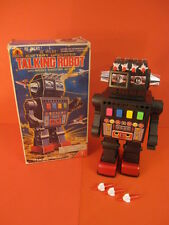 ALL ORIGINAL YONEZAWA TALKING ROBOT MINT + ORIGINAL BOX SPACE TOY 1970
