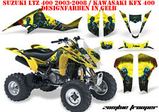 Amr racing decoración Graphic kit ATV suzuki ltz & Kawasaki KFX zombi Trooper B