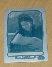 2013 Topps Star Wars Galactic Files print plate BREHA ORGANA base #450 1/1