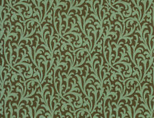 Teal Brown Copper Scroll Wallpaper Double Roll Bolts FREE SHIPPING