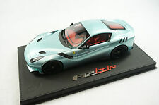 1/18 BBR FERRARI F12 TDF LIGHT BLUE BLACK DELUXE BLACK LEATHER BASE LE 10 PC MR