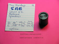 SAE TWO INTEGRATED  AMPLIFIER  LEVEL BALANCE SPEAKERS KNOB