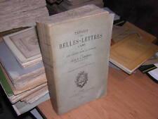 1900.théorie des belles-lettres / Longhaye
