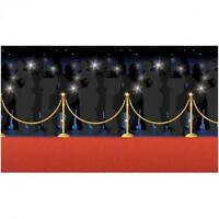 Hollywood Red Carpet Scene Setter - 4ft x 50ft - Party Wall Decoration