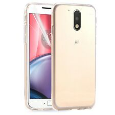 Motorola Moto G4 Plus - New Ultra Thin Crystal Clear Gel Back Case Cover Pouch