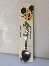 Vintage Walt Disney Bonny 1982 Mickey Mouse Stainless Steel Spoon ..Hard To Find