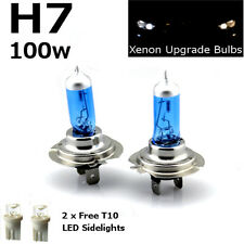 H7 100w SUPER WHITE XENON (499) LOW DIPPED BEAM UPGRADE HID Head Light Bulbs 12v