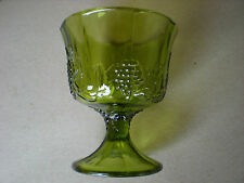 Colony Glass Harvest Green Grape Green Footed Vase