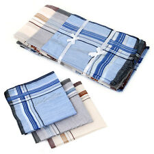 12x Mens HANDKERCHIEFS 100% Cotton Pocket Square Hanky Handkerchief 37x37cm