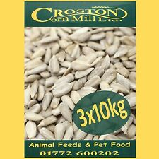 3x10kg (30kg) Sunflower Hearts Wild Bird Food PREMIUM BAKERY GRADE Dehulled