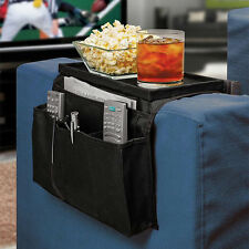 6 Pockets Remote Holder Table Arm Rest Organizer Bag Sofa Couch Storage BE