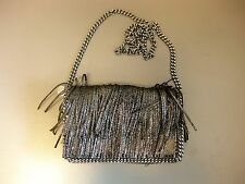 STELLA MCCARTNEY Clutch / Tasche - NEU - Falabella fringed bag - Grey - NEW